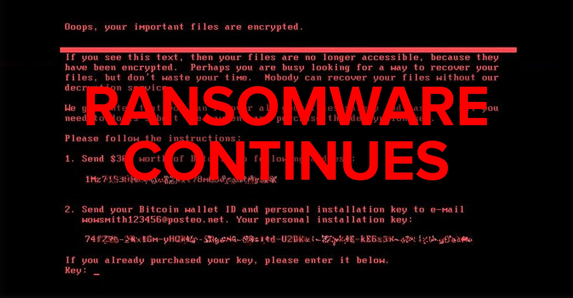 Petya-based ransomware using EternalBlue to infect computers around the world