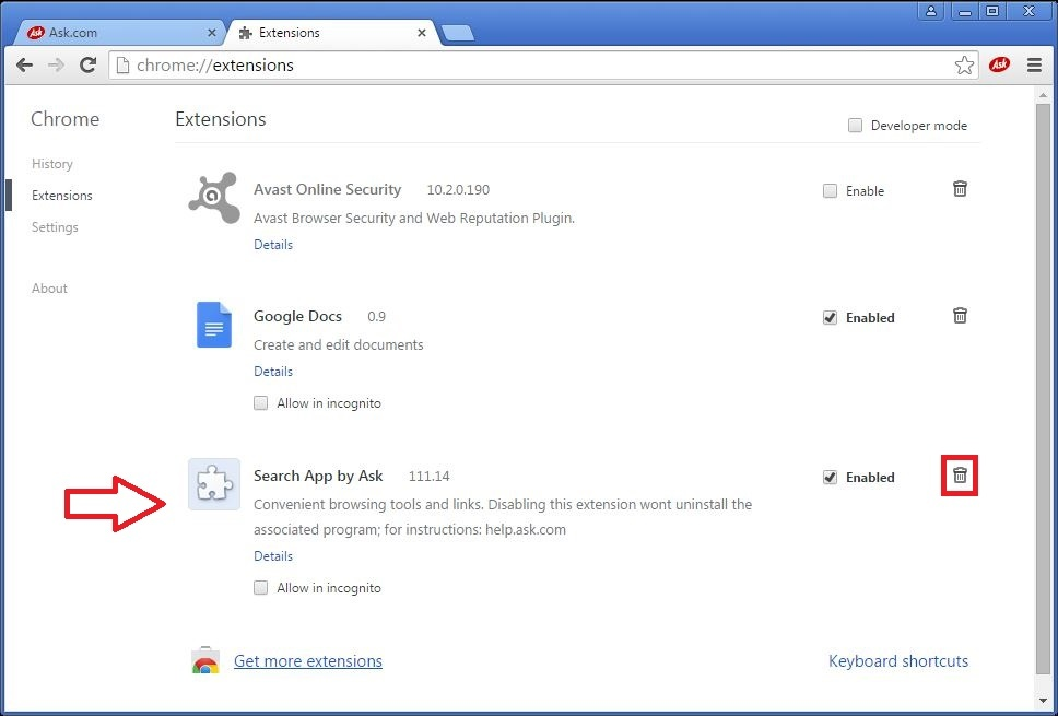 How to remove ask search engine from google chrome - YouTube