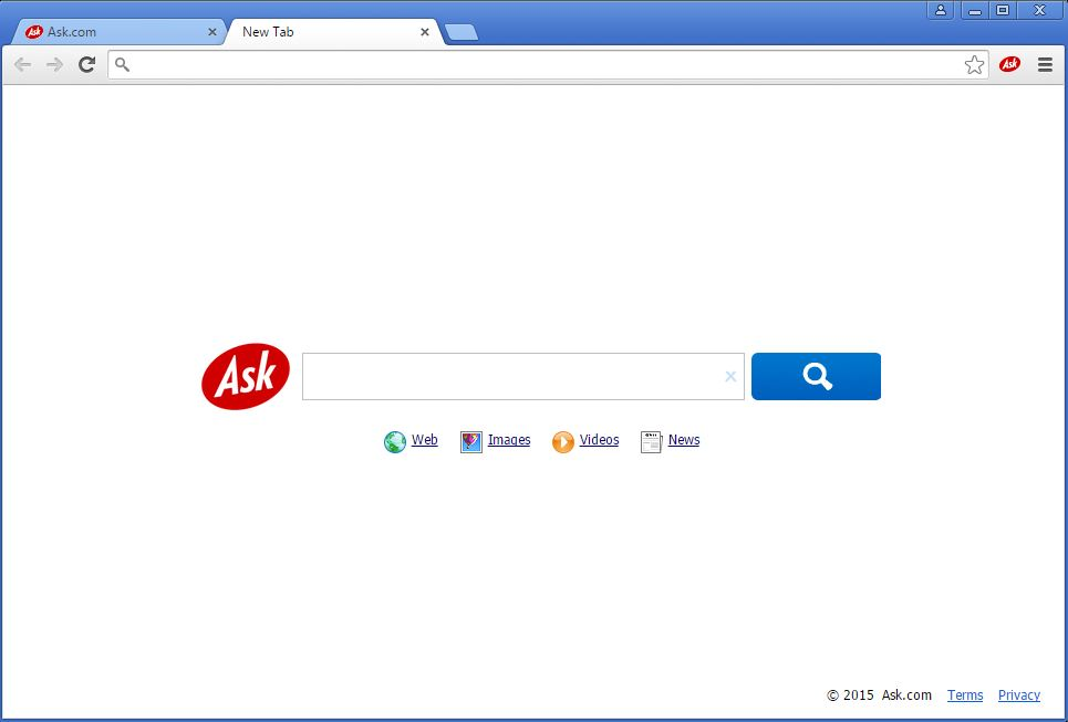 How to recognize that an Ask toolbar has been installed on my browser - example 1