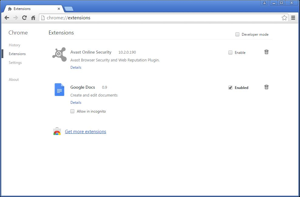 How to remove Conduit toolbar from your Chrome browser - step 5