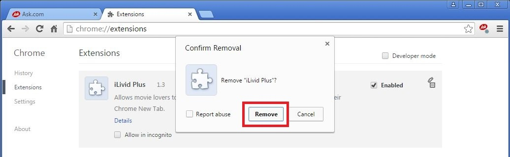 how to remove ask toolbar from chrome on mac