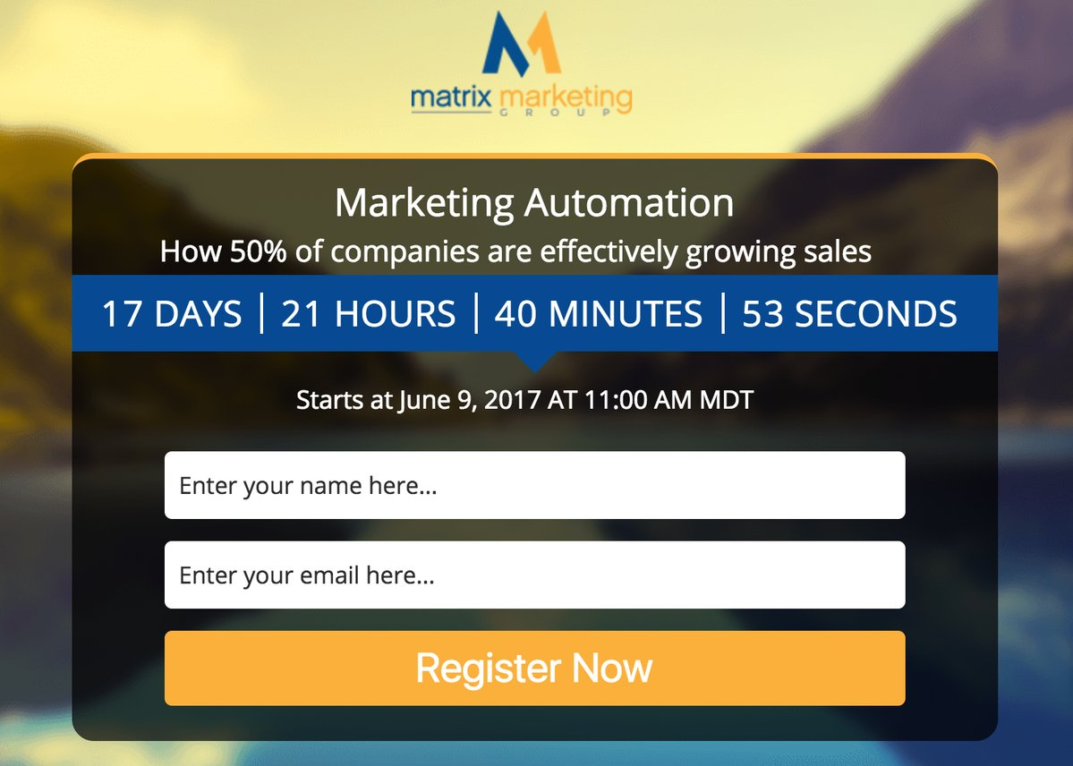 Marketing Automation Webinar