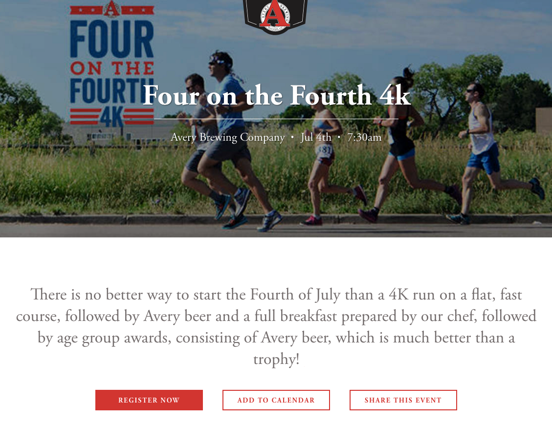 Avery Brewing 4k Run