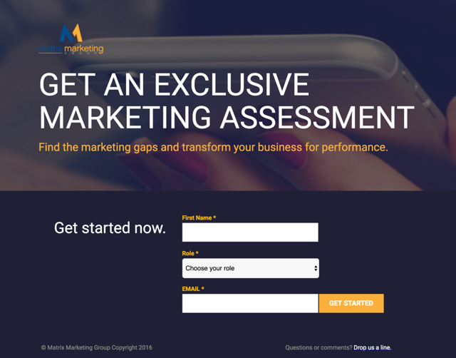 assessment marketing