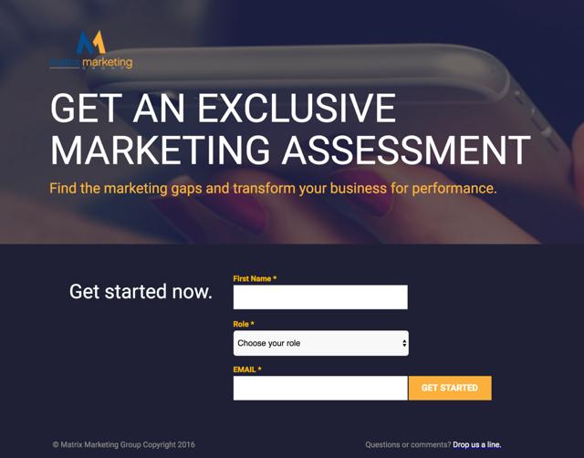 assessment marketing