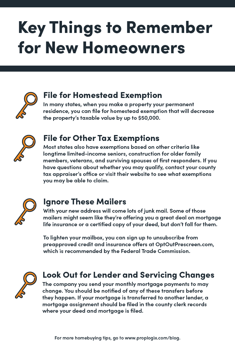 Key things to Remember for a New Homeowner