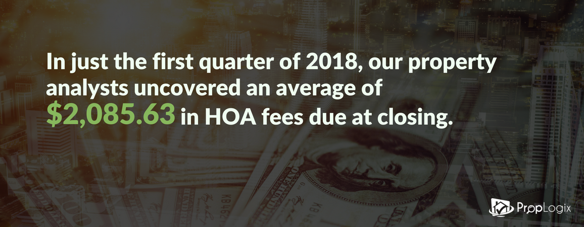 Many HOA homes have unpaid fees due at closing