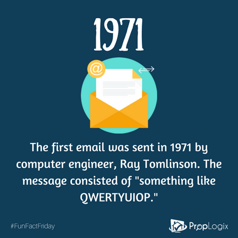 Fun Fact Friday - when was the first email sent?