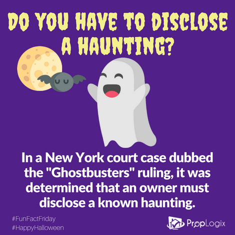 Fun Fact Friday - Haunting have to be disclosed to buyers in New York
