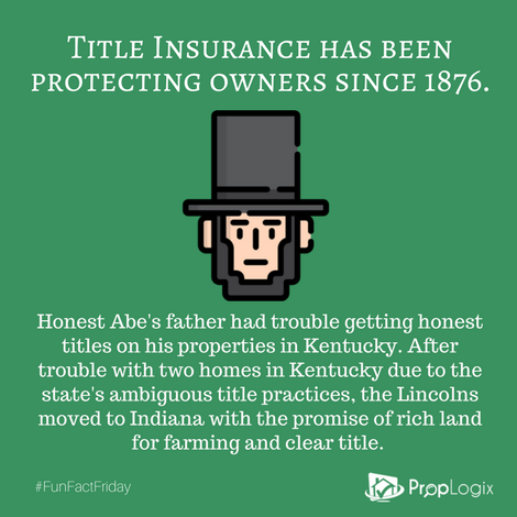 Honest Abe's father had trouble getting clear title in Kentucky, so the Lincolns moved to Indiana