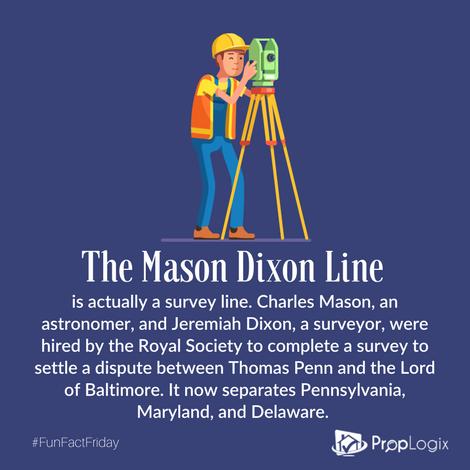 Fun Fact Friday - Mason Dixon Line