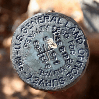 Survey marker with $250 penalty for removal-min