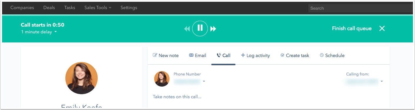 Call Queue Playlist Dashboard