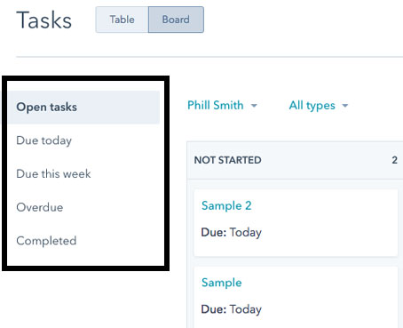 Tasks Due Date