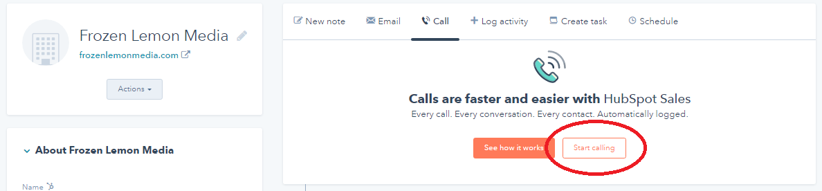 Registar your Phone Number with HubSpot Sales CRM