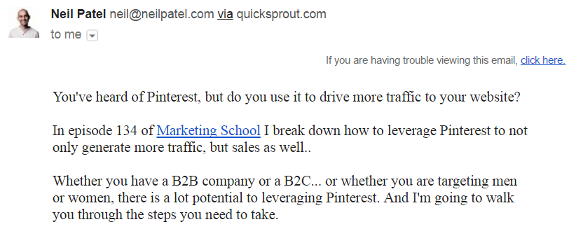 Neil Patel Email-An Example of Concise Body Copy.png