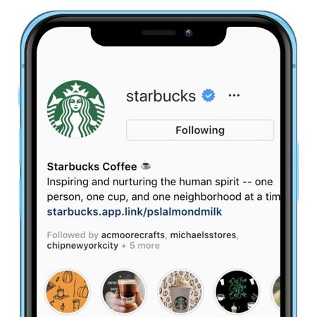 Starbucks Instagram Example