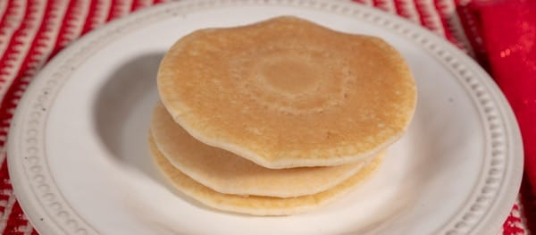 Plain Pancakes without Edible Glitter