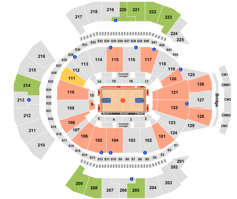 Chase Center Seating Chart Rows Seat Numbers And Club Seats Info