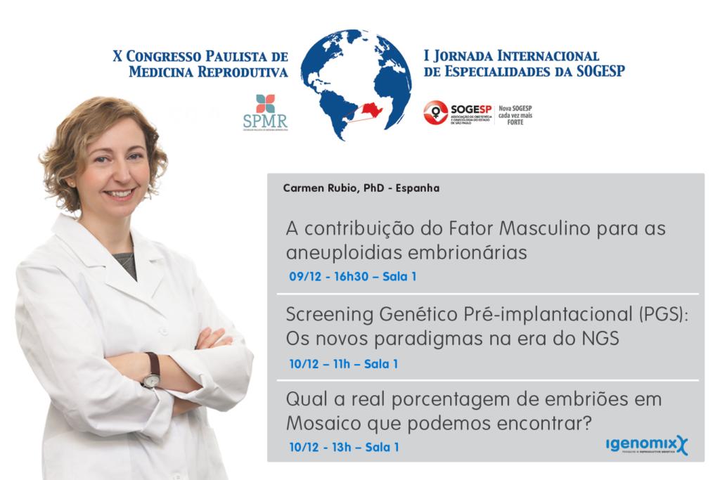 X Paulista Congress of Reproductive Medicine will have the international presence of Carmen Rubio, PhD