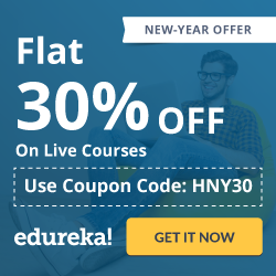 Edureka - Month End Offer-Flat 30% OFF ON Live Course