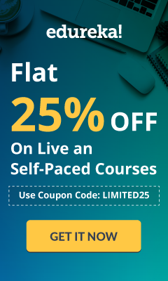 Edureka - Masters Offer - Flat 25% OFF on Master Courses