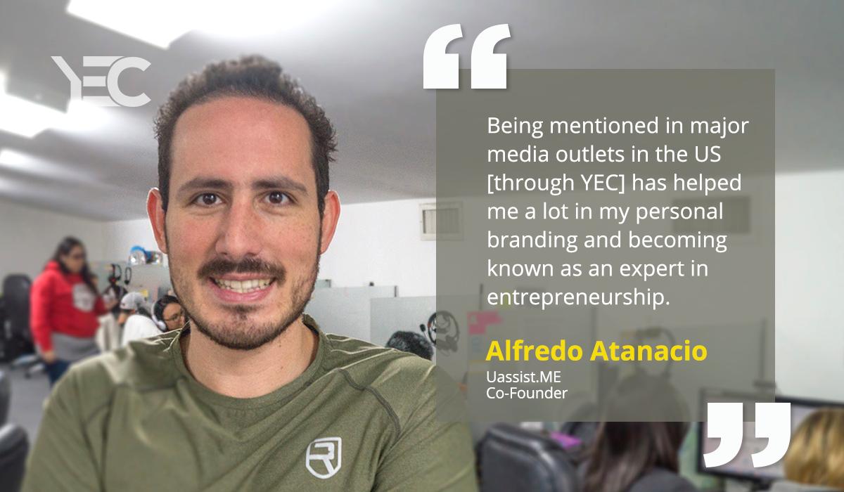 YEC Media Exposure Helps Alfredo Atanacio Become a Role Model For Entrepreneurial Success in El Salvador