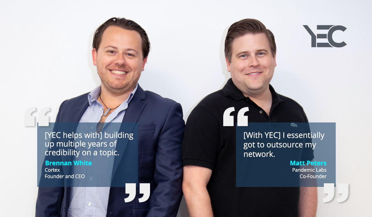 Matt Peters and Brennan White Lean on YEC to Outsource Networking and Gain Visibility