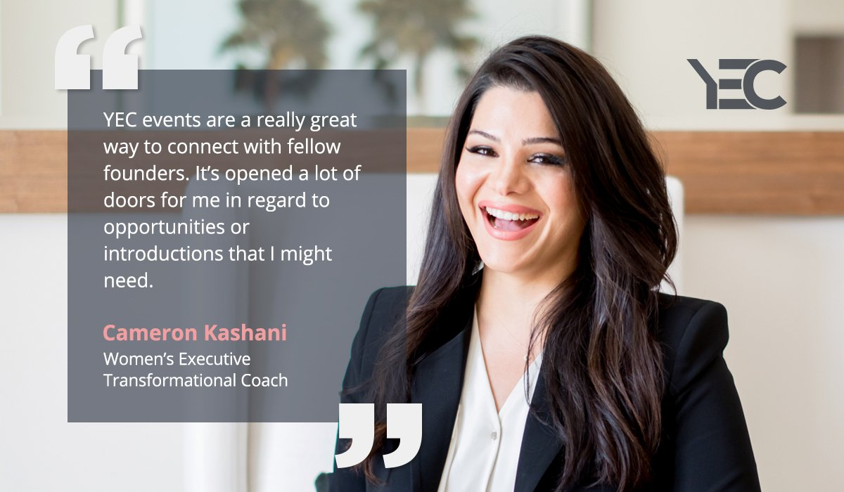 Cam Kashani Finds New Clients Through YEC Events