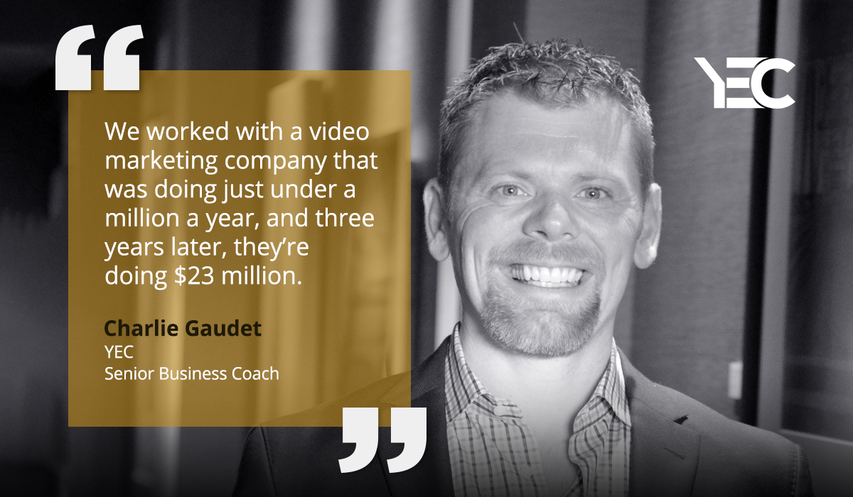 Senior Business Coach Charlie Gaudet Leverages His  Expertise for YEC Members