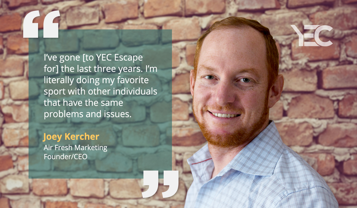 Experiential Marketer Joey Kercher Makes Life-Long Friends at Annual YEC Retreat