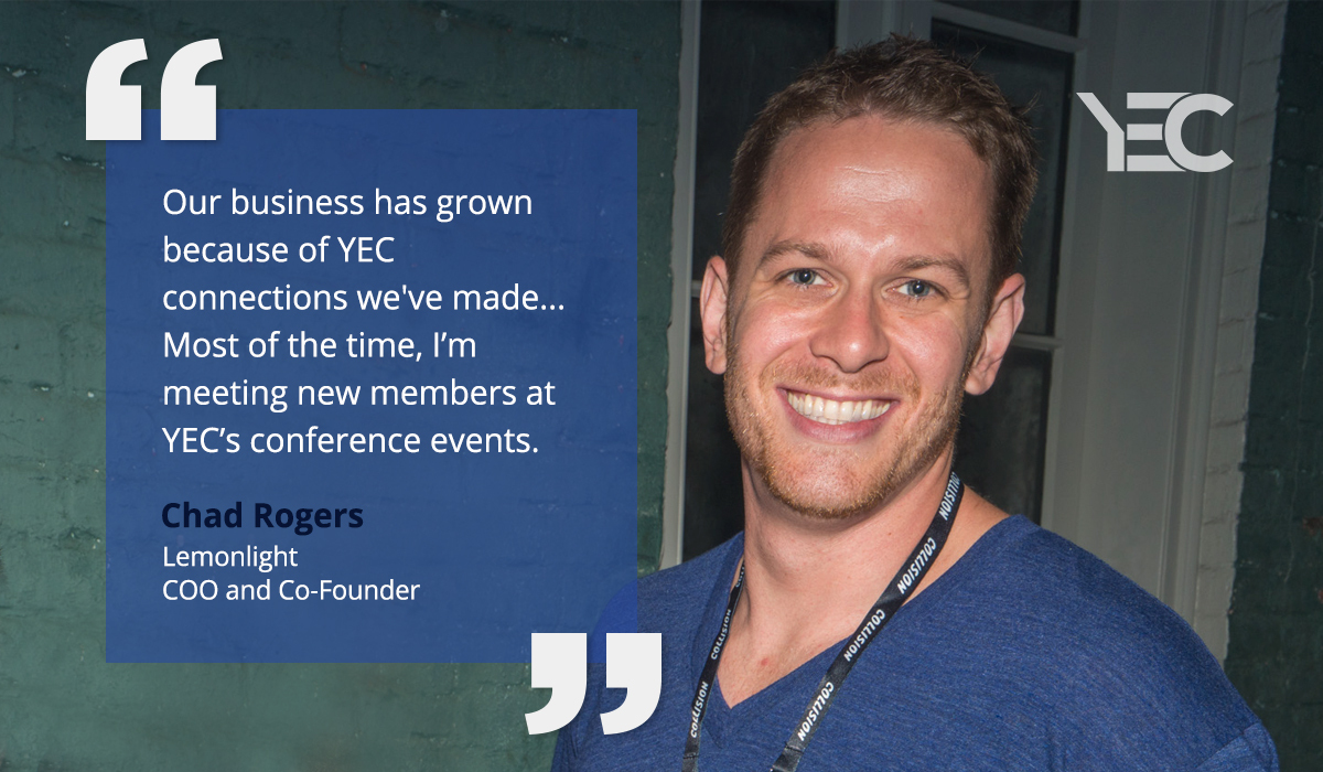 Chad Rogers Grows His Business With Connections Made at YEC Events