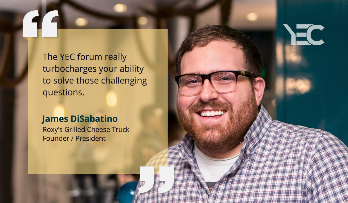 For James DiSabatino, YEC Delivers Connections and Advice Across Industries
