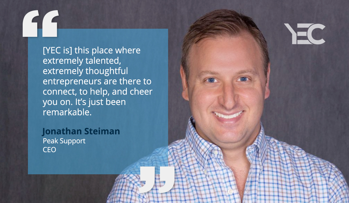 Jon Steiman Connects and Learns at YEC Events