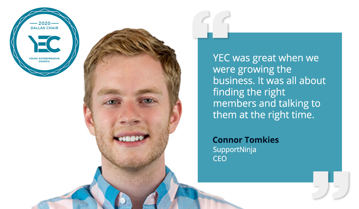 Connor Tomkies is YEC Dallas Group Chair