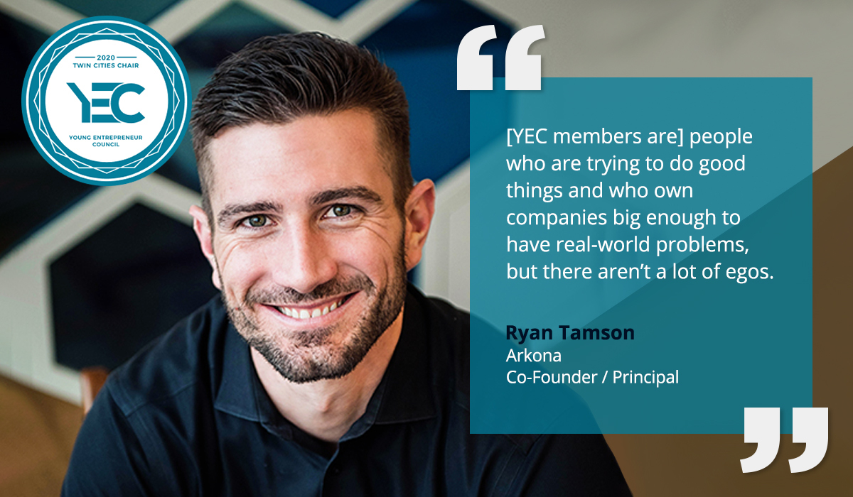 Ryan Tansom is the YEC Twin Cities Group Chair
