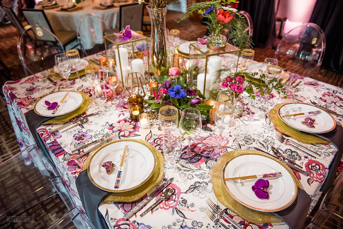 Bold Pattern Party Table Decor | BBJ Linen