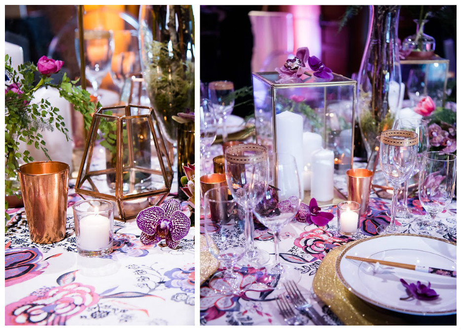 Bold Purple Orchid Party Tablescape Event Decor | BBJ Linen