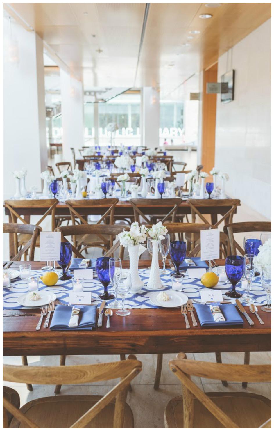 Royal Blue Miramar Table Decor | BBJ Linen
