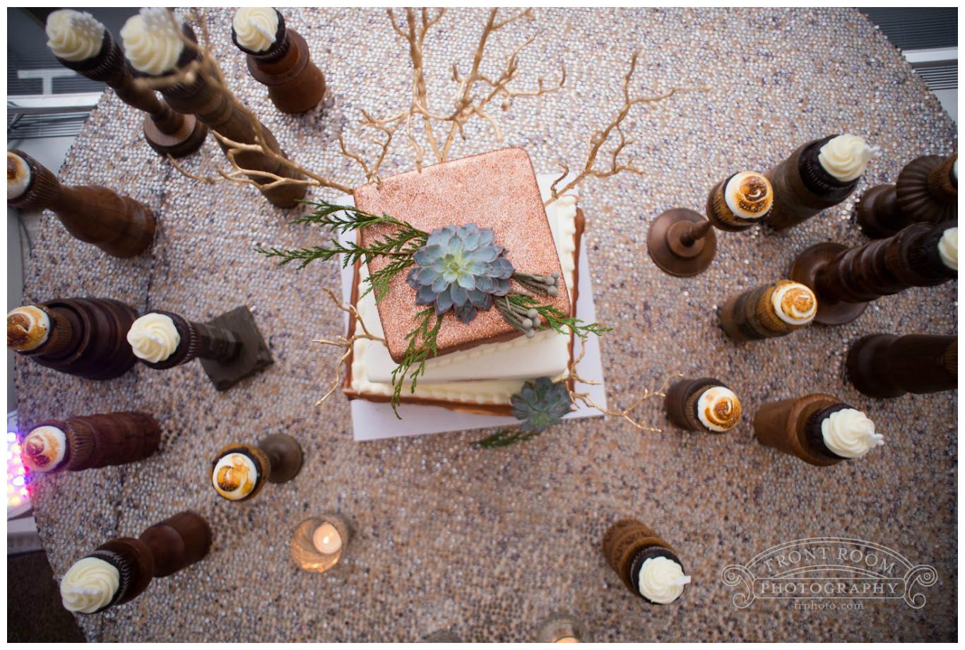 Candleholder Inspired Cupcake Stand Dessert Table | BBJ Linen