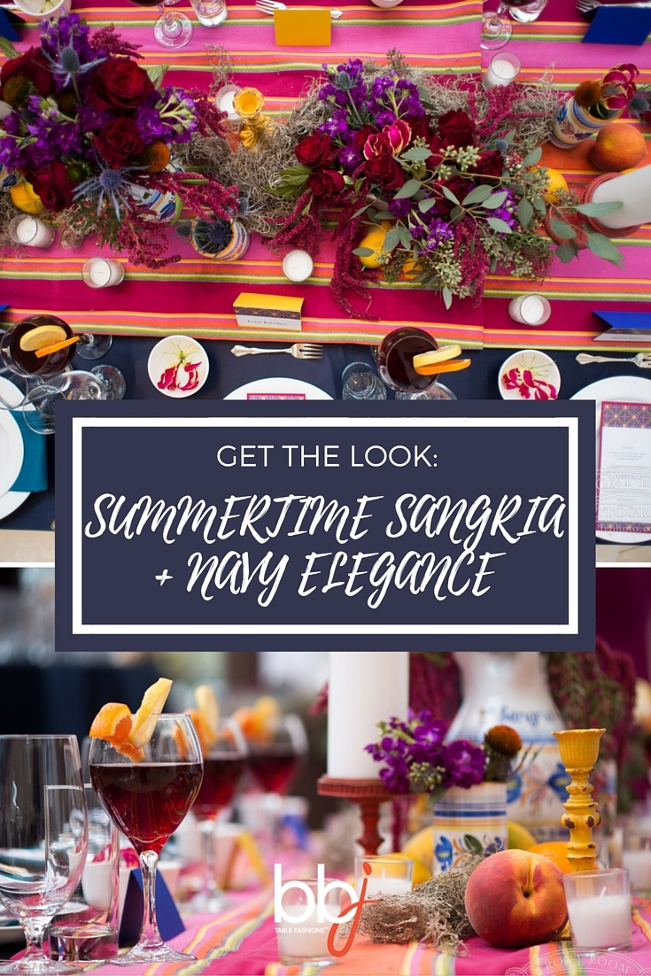 Get the Look: Summertime Sangria and Navy Elegance | BBJ Linen