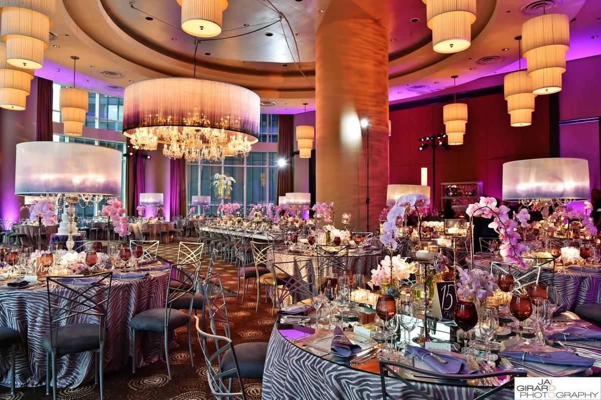 Modern Purple Monochromatic Event Decor | BBJ Linen