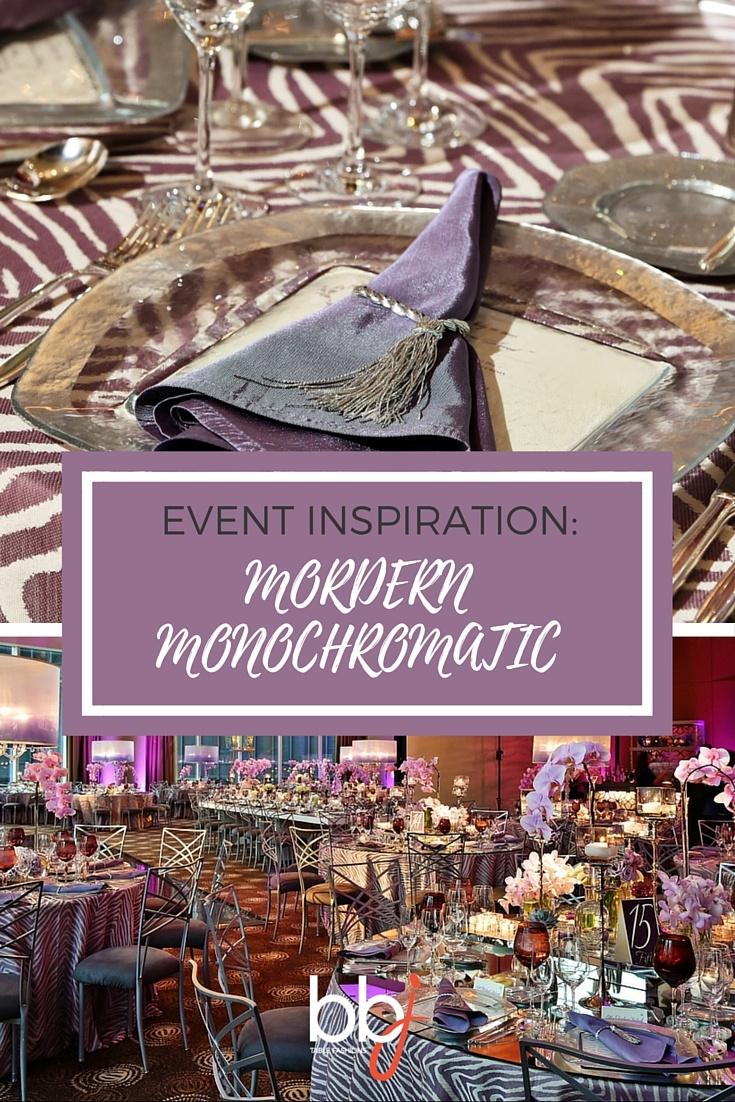 Event Inspiration: Modern Monochromatic | BBJ Linen