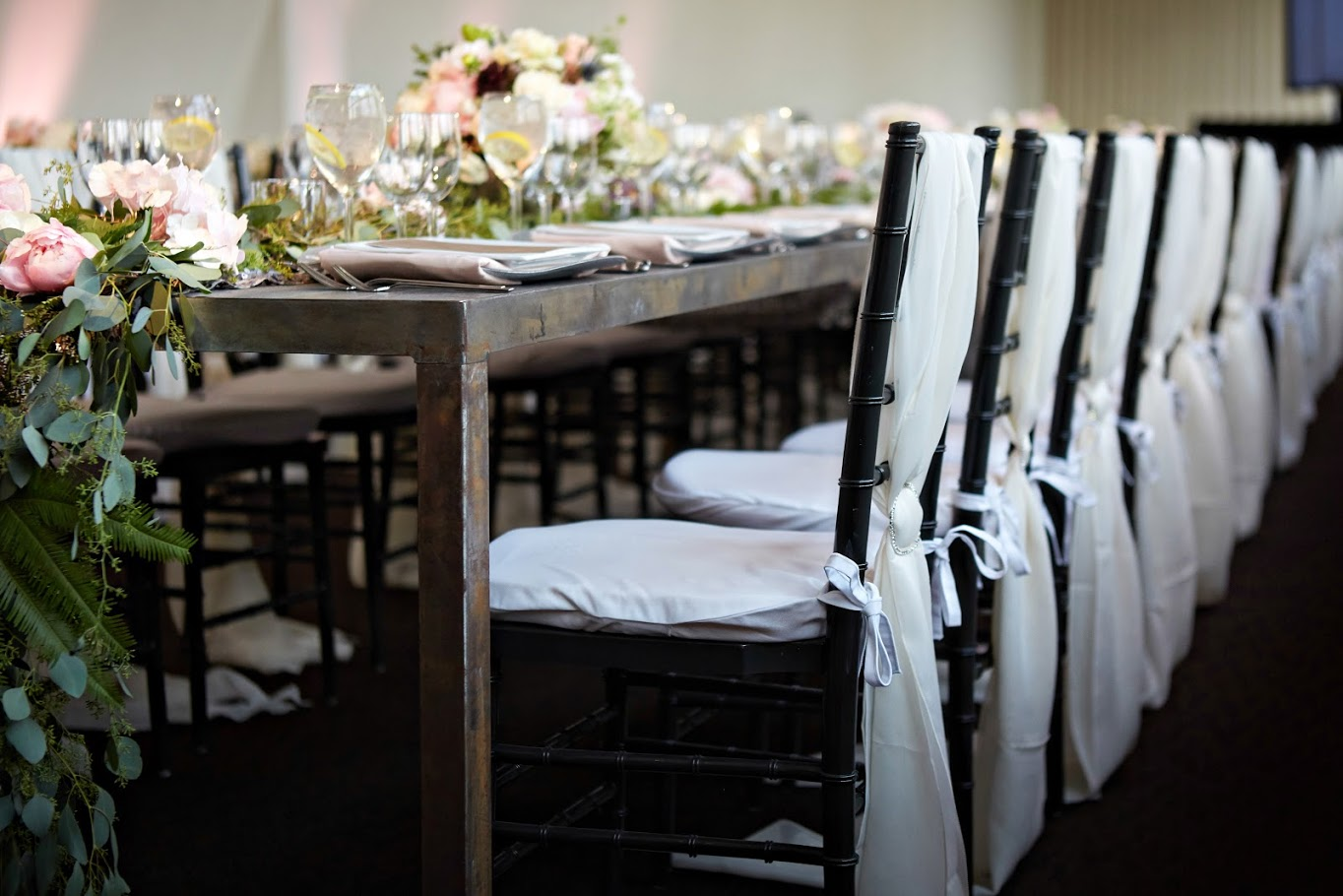 Ivory Chiffon Chair Ties for Event Decor | BBJ Linen