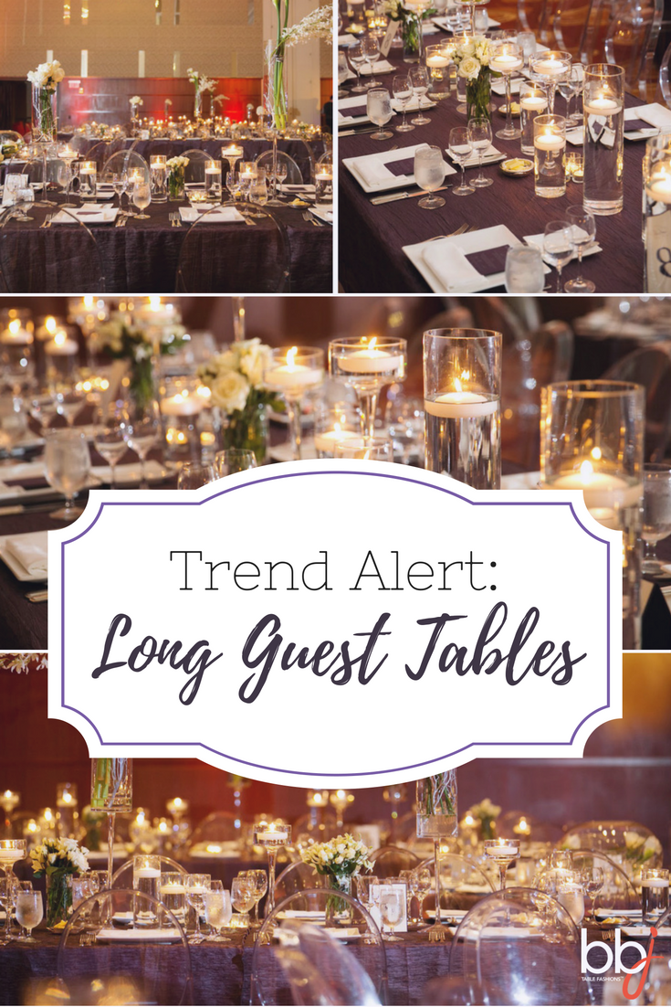 Featured Trend: Long Honored Guest Tables at Weddings and Events