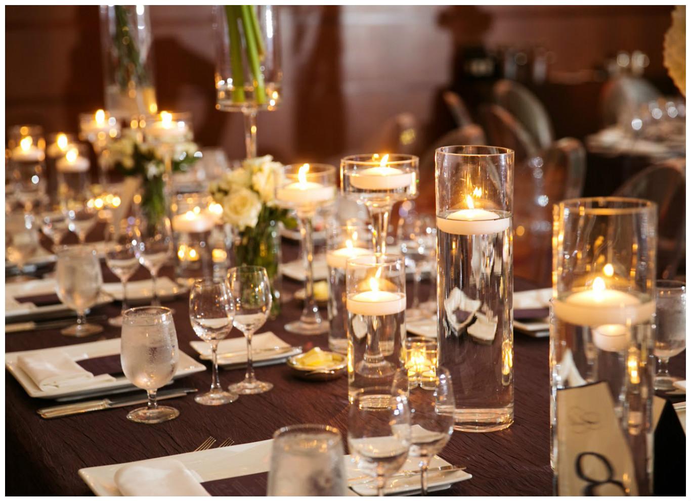 Candle Centerpiece Event Decor | BBJ Linen