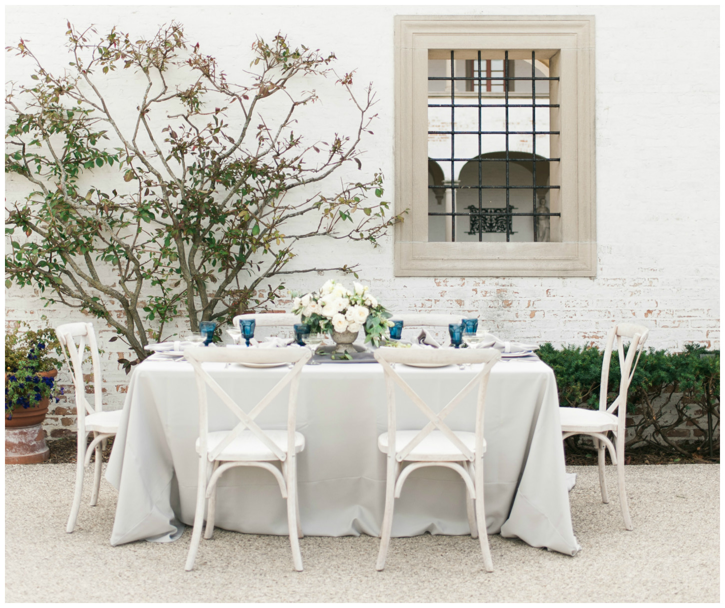 Italian Villa Wedding Decor | BBJ Linen