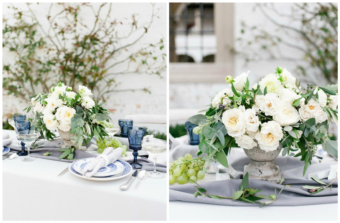 Villa Wedding Tablescape and Centerpiece Decor | BBJ Linen