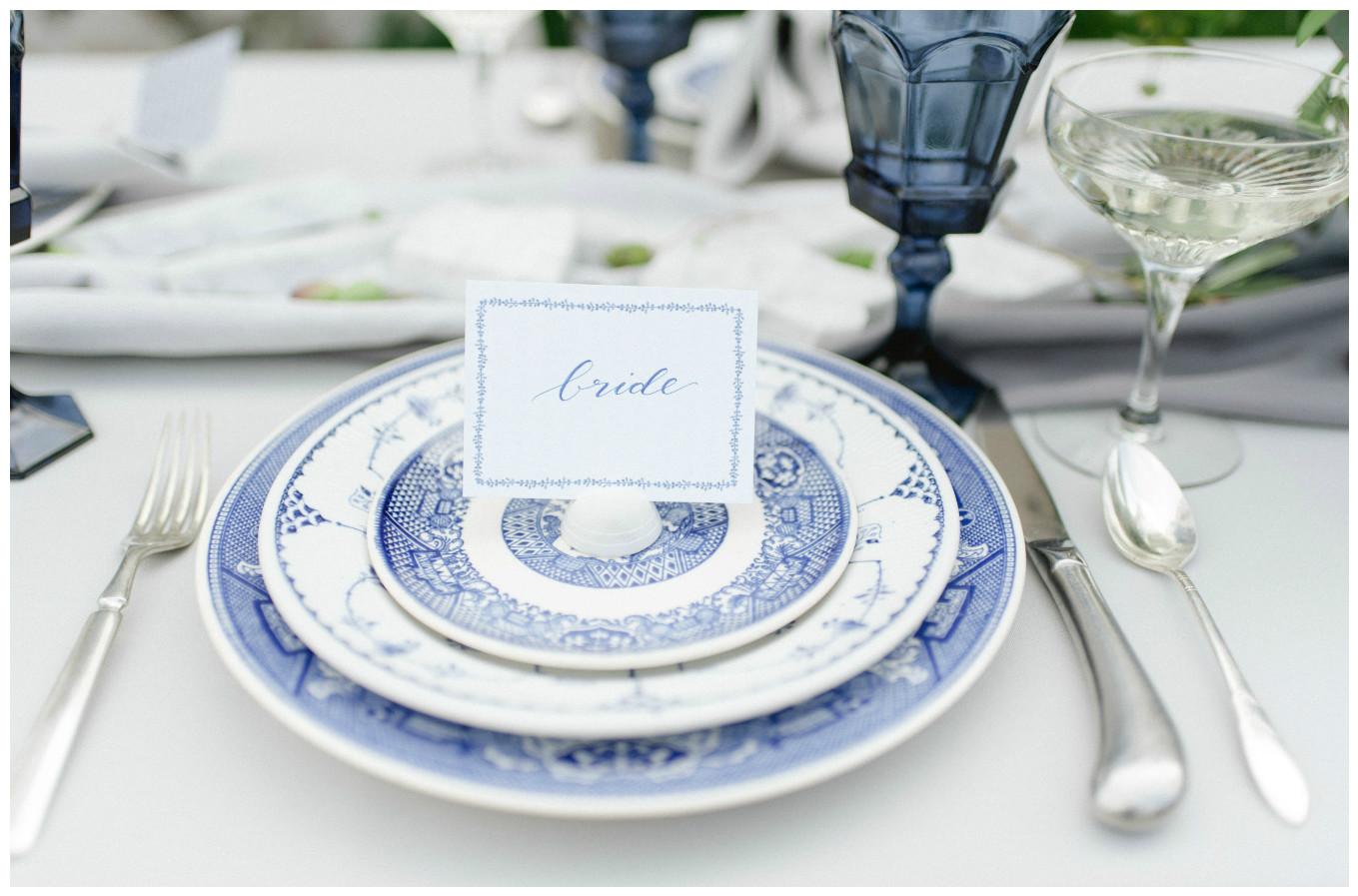 Bride Wedding Name Place Card Decor | BBJ Linen