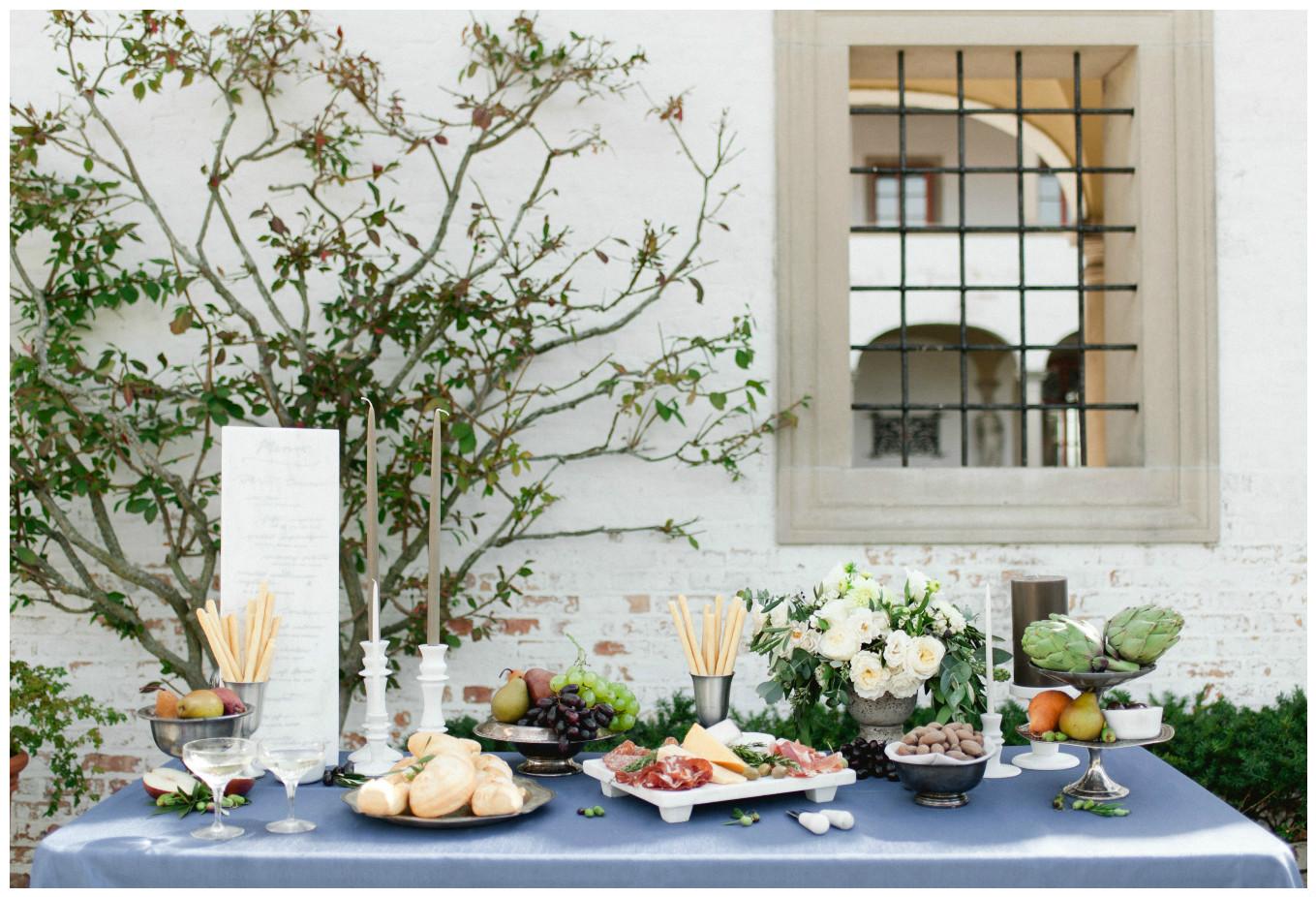 Blue Federal Shantung Table Linen for Wedding Decor | BBJ Linen